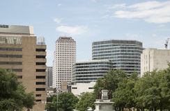 Modern city Austin TX. Modern buildings in downtown Austin, TX USA Stock Photo