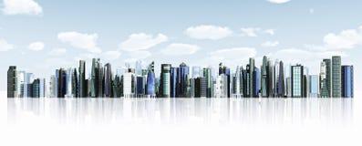 Modern City background vector illustration