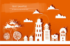 Modern city background made of paper Stock Photography