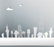 Modern city background made of paper Royalty Free Stock Photography