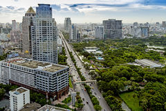 Modern city of Bangkok. Thailand. Bangkok is the capital city of Thailand and the most populous city in the country Stock Image
