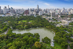 Modern city of Bangkok. Thailand and Suan Lum (Lumpini Park Stock Photos