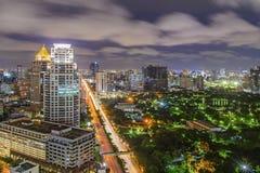 Modern city of Bangkok at night Stock Photo