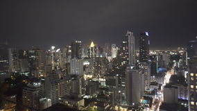 Modern city during beautiful cloudy night stock video footage