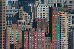 Modern city buildings. Cityscape showing details of densely packed high rise modern buildings Royalty Free Stock Photography