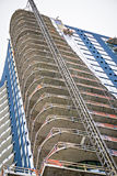 Modern city buildings under construction or maintenance Royalty Free Stock Photo