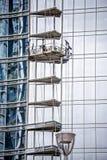Modern city buildings under construction or maintenance Stock Photo