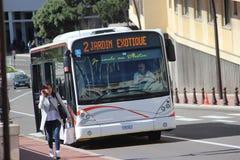 Modern City Bus Van Hool A330 in Monaco Stock Photos
