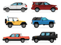 Modern city car isolated vector set Stock Images