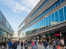 The modern city centre of Almere, The Netherlands Stock Photo