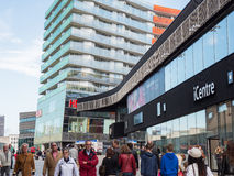 The modern city centre of Almere, The Netherlands Royalty Free Stock Photo