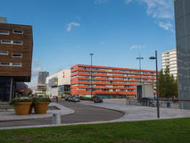 The modern city centre of Almere, The Netherlands Stock Images