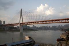 Modern city Chongqing in sunset Royalty Free Stock Photo