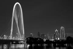 Modern city  Dallas night scenes Royalty Free Stock Photo