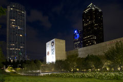 Modern city Dallas night scenes Royalty Free Stock Photography