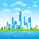 Modern city district. Buildings in perspective Royalty Free Stock Image