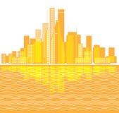 Modern city district illustration Stock Photography