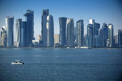 Modern city in Doha. Qatar Royalty Free Stock Images