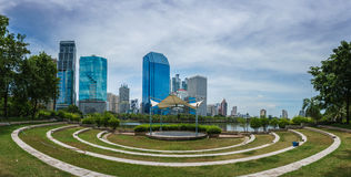 Modern city in downtown, Bangkok Thailand Stock Image
