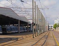 Modern city - electric public transport Stock Photo