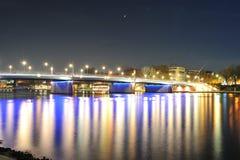 Modern city. Frankfurt at night Royalty Free Stock Photography
