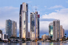 Modern city (gold coast, queensland, australia) Stock Photo