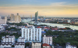 Modern city in a green environment, Bangkok, Thailand. Royalty Free Stock Images