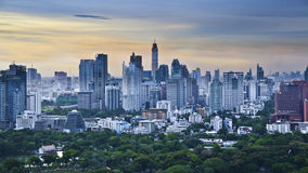 Modern city in a green environment,Suan Lum,Bangkok,Thailand Royalty Free Stock Image