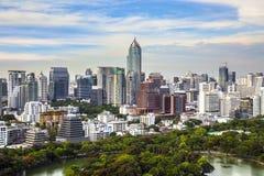 Modern city in a green environment, Suan Lum, Bangkok, Thailand. Royalty Free Stock Photos