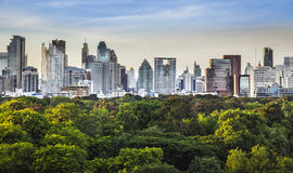 Modern city in a green environment. Stock Image