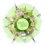 Modern city.  Green planet, environmental concept illustration Stock Images