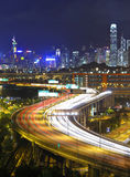 Modern city and highway Stock Photos