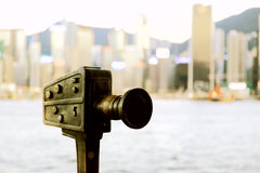 The modern city of Hongkong. A famous tourist place of the world, china royalty free stock image