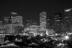 Modern city  Houston night scenes Royalty Free Stock Images