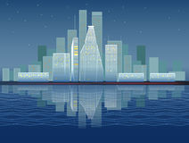 Modern city illustration Royalty Free Stock Image