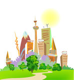 Modern City Illustration Royalty Free Stock Photo