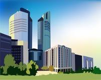 Modern City Illustration Stock Photo