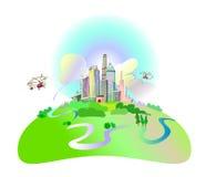 Modern City Illustration Royalty Free Stock Image