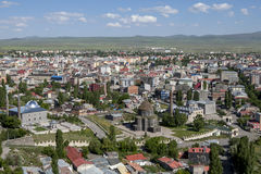 The modern city of Kars in the far eastern region of Turkey. Royalty Free Stock Photo