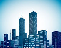 Modern city landscape background Stock Image