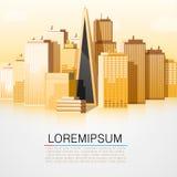 Modern city landscape background Stock Photos