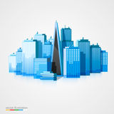 Modern city landscape background Royalty Free Stock Photo