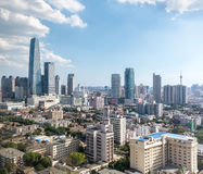 Modern city landscape of tianjin Royalty Free Stock Photos