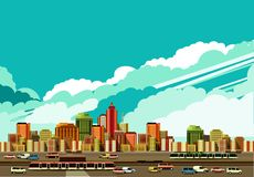 Modern city landscape Royalty Free Stock Images