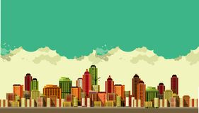 Modern city landscape Royalty Free Stock Photo