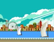 Modern city landscape Royalty Free Stock Photography