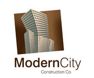 Modern City Logo. Logo Design for Construction Company Royalty Free Stock Image