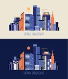 Modern city logo Stock Photos