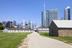 Looking down the path at Fort York in Toronto Royalty Free Stock Photography