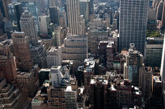 Modern City madness, tall buildings and crowded st Stock Image